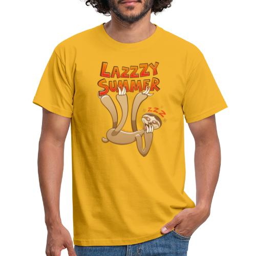 Sleepy sloth yawning and enjoying a lazy summer - Men's T-Shirt