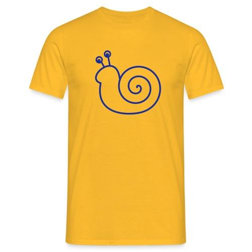 Lustige Schnecke - Männer T-Shirt