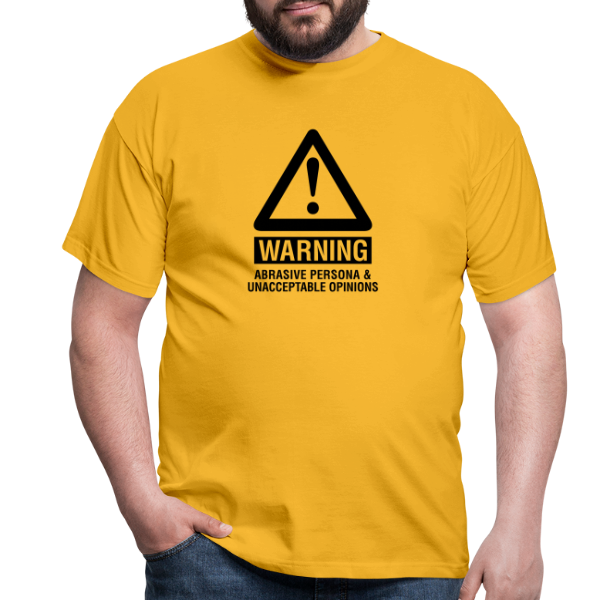 warning abrasive persona - Men's T-Shirt