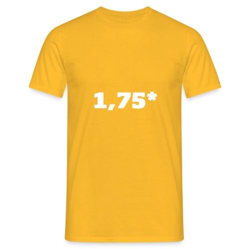 1 75 front - T-skjorte for menn