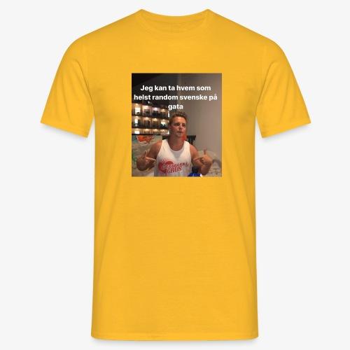 RANDOM SVENSKE PÅ GATA - T-skjorte for menn