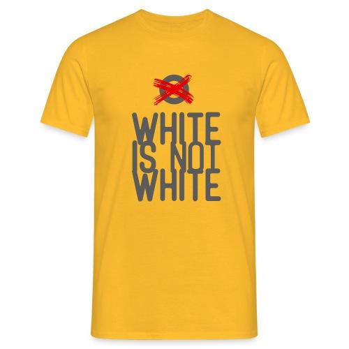 white not - Koszulka męska