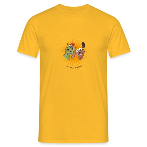Kollin Kläff - Hund mit Drache - Männer T-Shirt