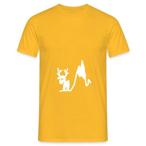 Renne blanc - Une blonde en Norvège - T-shirt Homme