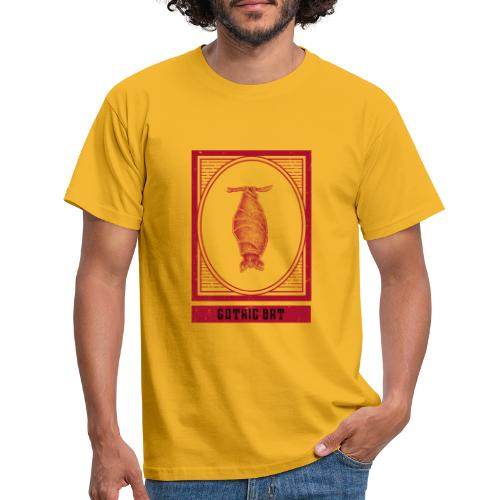 Gothic hanging bat - hangende vleermuis - Mannen T-shirt