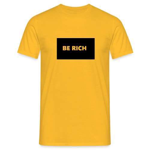 BE RICH REFLEX - Mannen T-shirt