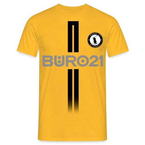 BÜRO21 Global Trikotlook - Männer T-Shirt