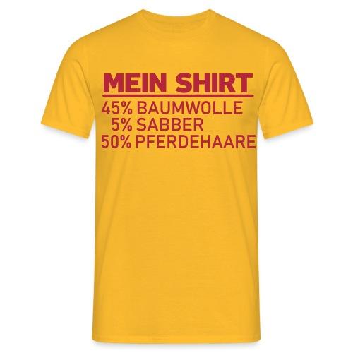 Mein Shirt Pferde - Männer T-Shirt