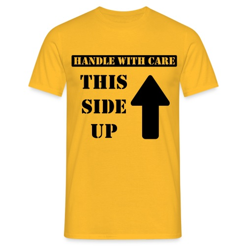 Handle with care / This side up - PrintShirt.at - Männer T-Shirt