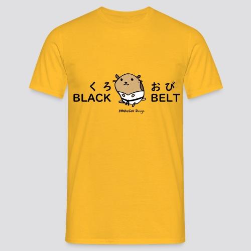 Zwarte gordel hamster - Mannen T-shirt