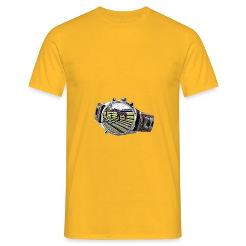Horse in a watch - Men's T-Shirt
