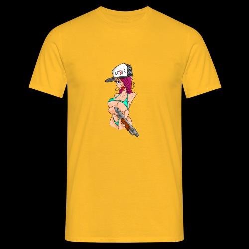 Girl with shotgun - T-shirt herr