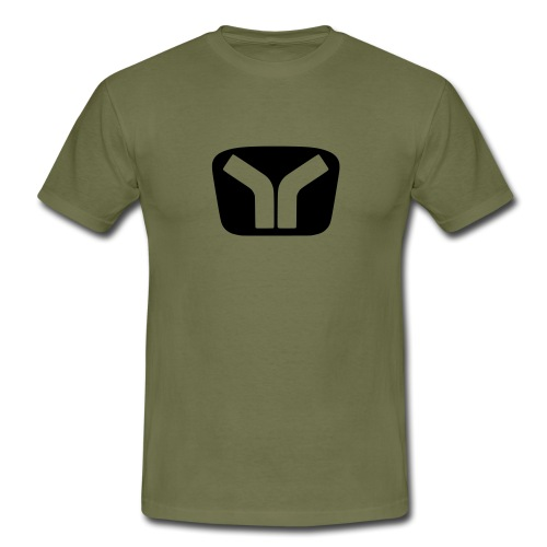 Yugo Logo Black-Transparent Design - Men's T-Shirt