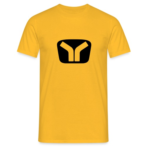 Yugo Logo Black-Transparent Design - Men's T-Shirt