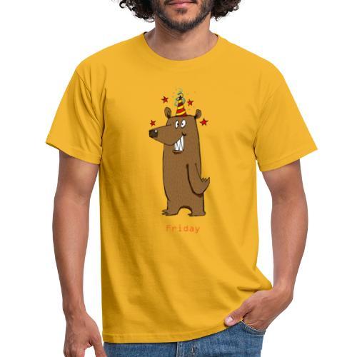 Love Fridays Party Bear for Work Office - Maglietta da uomo