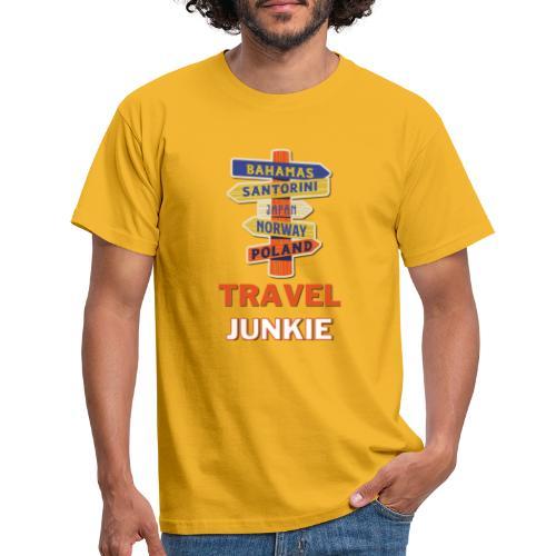 traveljunkie - i like to travel - Männer T-Shirt