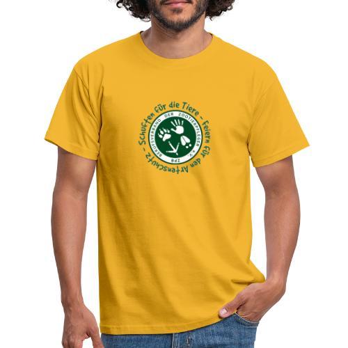 Schuften für die Tiere, Feiern für den Artenschutz - Männer T-Shirt