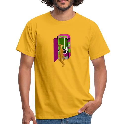 The pissing kangaroo - Männer T-Shirt