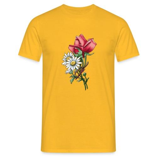 Päivänkakkara ruusunippu tekstiilit ja lahjat - Miesten t-paita