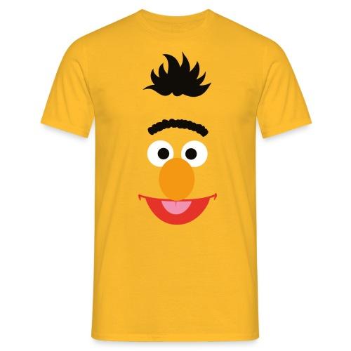Sesamstraße Bert Gesicht - Männer T-Shirt