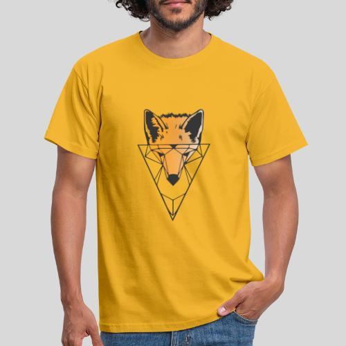 Fuchs Geometrie schwarz-orange - Männer T-Shirt