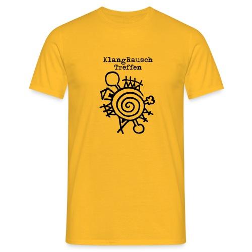 KlangRauschTreffen Logo mit Schrift - Männer T-Shirt