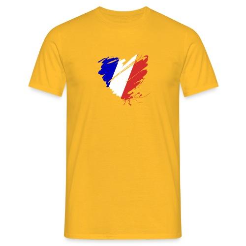 Herz Cœur France Frankreich Grande Nation Rotwein - Men's T-Shirt