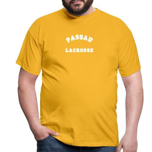 Passau Lacrosse - Vintage Schrift Weiß - Männer T-Shirt