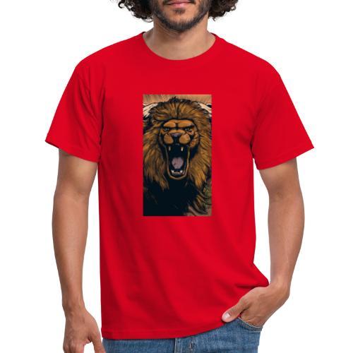 Lion grin - Männer T-Shirt