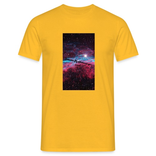 Space- You can Fly - Männer T-Shirt