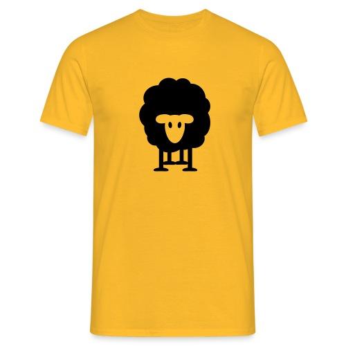 dickes Schaf schwarzes Schaf Herde Schäfer knuffig - Men's T-Shirt