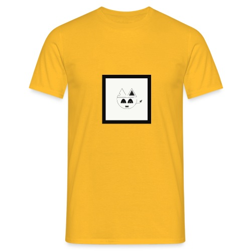 Geometric cat head - T-shirt Homme