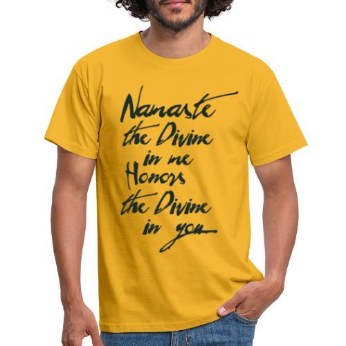 Namaste *Yogigruss* das Licht in der Yogapraxis - Männer T-Shirt