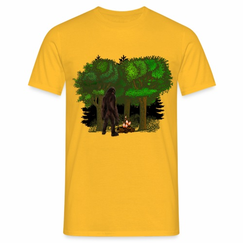 Bigfoot Campfire Forest - Men's T-Shirt