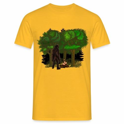 Bigfoot Campfire Forest - Men's T-Shirt
