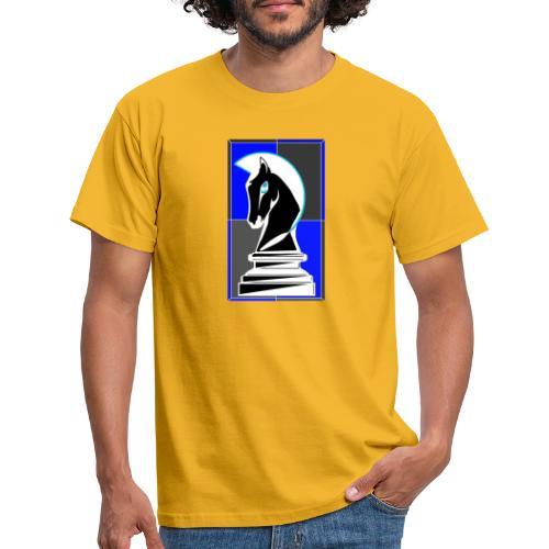 cavallo Scacchi Vers 2 Colori Invertiti - Maglietta da uomo