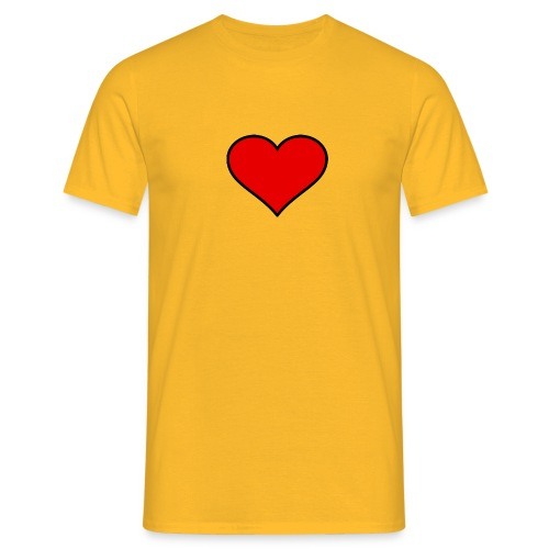 big heart clipart 3 - T-shirt herr