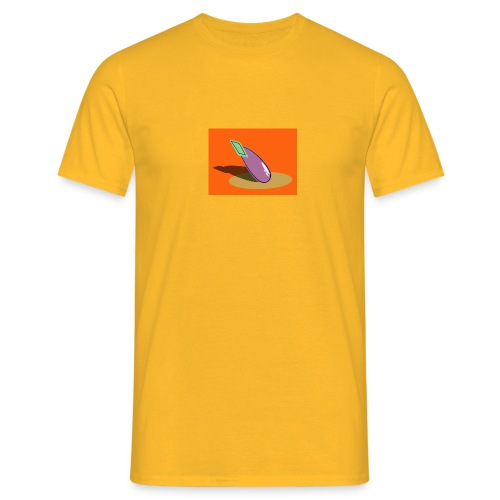 Orange Aubergine - Männer T-Shirt