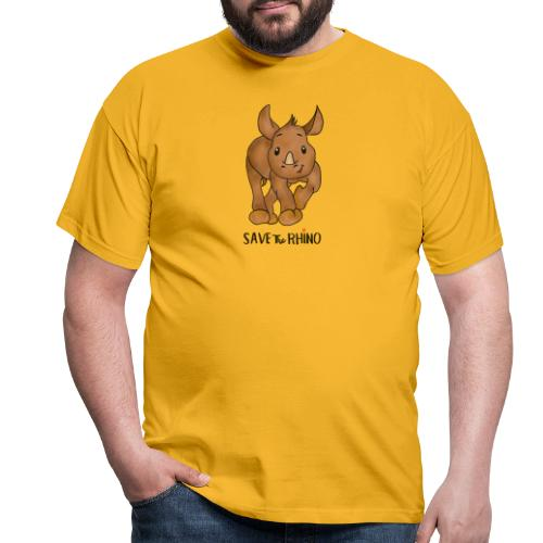 Save the Rhino - Men's T-Shirt