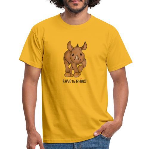 Save the Rhino - Men's T-Shirt