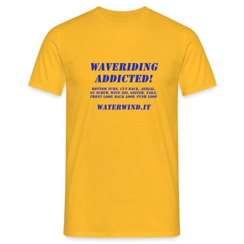 waveriding add blue - Men's T-Shirt