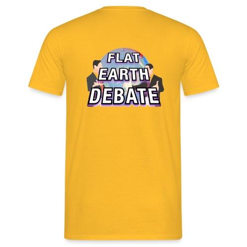 Flat Earth Debate Solid - Men's T-Shirt