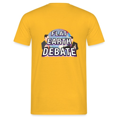 Flat Earth Debate Solid - Men's T-Shirt