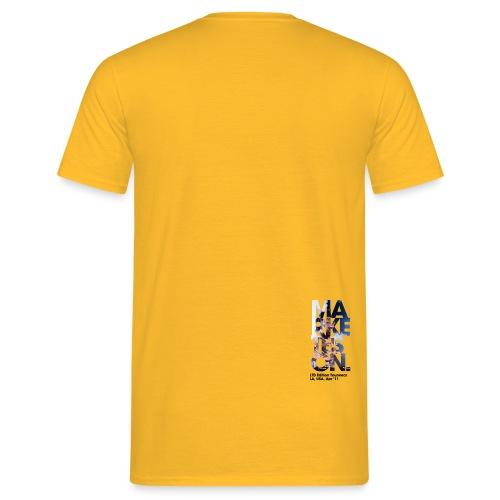 LA 12 Text Back Small - Men's T-Shirt