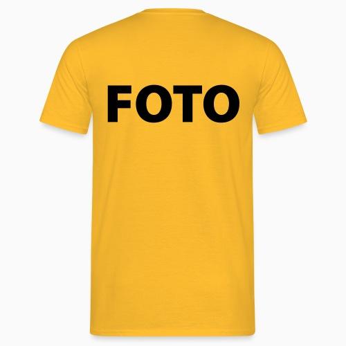 FOTO (Svart tryck) - T-shirt herr