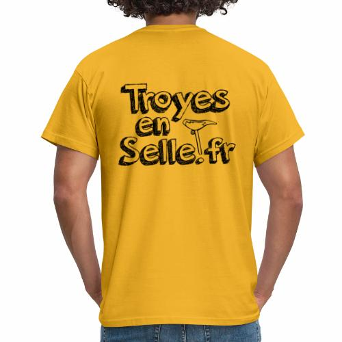 logo Troyes en Selle noir - T-shirt Homme