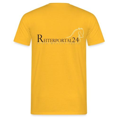 reiterportal 24pferd mensch sportohnerot - Männer T-Shirt