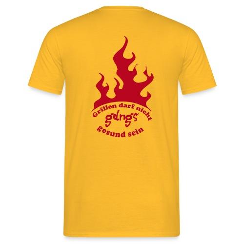 gdngs runde flamme - Männer T-Shirt