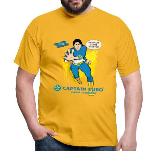 El futuro protagoniza contigo - marca azul. - Camiseta hombre