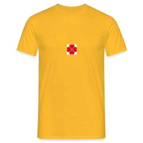 LoveHeartCloverLeaves - Men's T-Shirt